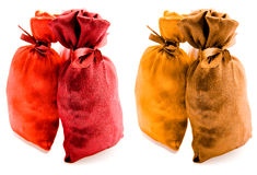 Beautiful multi-coloured sacks Royalty Free Stock Photography