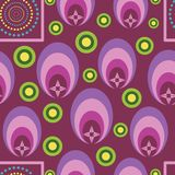 Beautiful multi-shaped geometrical vector seamless. Pattern background. Great to use for wallpapers, fabric, gift-wrap, and other surfaces of any product royalty free illustration