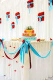 Beautiful multi-tiered wedding cake Royalty Free Stock Photo