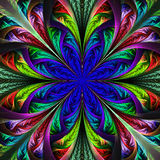 Beautiful multicolor fractal flower. Computer generated graphics Stock Images