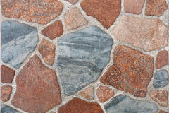 beautiful multicolor tiled stone for pattern and background Royalty Free Stock Images