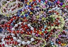 Beautiful multicolored beads Royalty Free Stock Photo