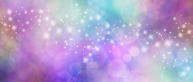 Beautiful Multicolored Bokeh Sparkly Website Header Stock Images