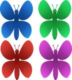 Beautiful multicolored butterflies vector illustration