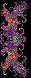 Beautiful multicolored decorative ornament on black background, Immagini Stock