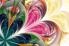 Beautiful multicolored fractal flower. Collection - frosty patte Royalty Free Stock Photos