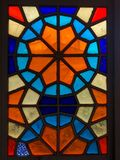 Beautiful multicolored mosaic window in Tbilisi. View stock photography