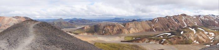Beautiful multicolored mountains at Landmannalaugar, Iceland Stock Photography