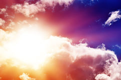 Beautiful Multicolored Sky Stock Photo