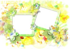 Beautiful  multicolored summer card Royalty Free Stock Images