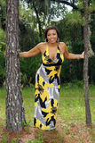 Beautiful Multiracial Woman Outdoors (2) Royalty Free Stock Photos