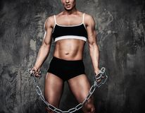 Beautiful muscular bodybuilder woman Stock Image