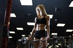 Beautiful muscular fit woman Stock Image