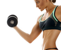 Beautiful muscular fit woman Stock Images