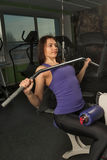 Beautiful muscular fit woman exercising Royalty Free Stock Photo