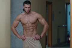 Beautiful Muscular Man After Bath Royalty Free Stock Image
