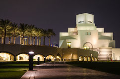 Beautiful Museum of Islamic Art in Doha, Qatar at night Royalty Free Stock Images