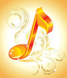 Beautiful music note. Stock Photos