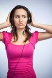 Beautiful music woman Stock Photo