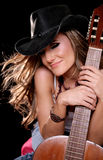 Beautiful Music Woman Stock Images