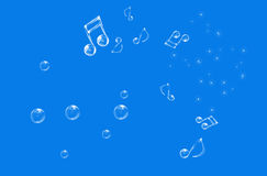 Beautiful musical notes royalty free stock photography