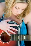 Beautiful Musician. Beautiful woman musician with guitar stock photos