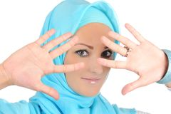 Beautiful Muslim fashion girl Stock Photo
