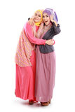 Beautiful muslim girl friend together Royalty Free Stock Photos