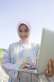 Beautiful Muslim girls wearing a headscarf Royalty Free Stock Photography