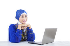 Beautiful muslim secretary Royalty Free Stock Photo
