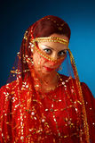 Beautiful muslim woman. In traditional suit Stock Image