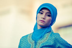 Beautiful muslim woman close up Royalty Free Stock Photos