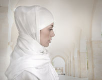 Beautiful Muslim woman isolated Stock Photo