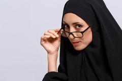 Beautiful Muslim woman looking at camera Royalty Free Stock Images