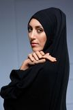 Beautiful muslim woman posing in chador Royalty Free Stock Photos