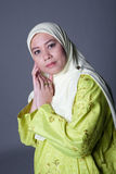 Beautiful Muslim woman in scarf Stock Photo