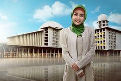 Beautiful muslim woman smiling Stock Photography