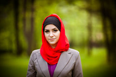 Beautiful muslim woman wearing hijab Royalty Free Stock Images
