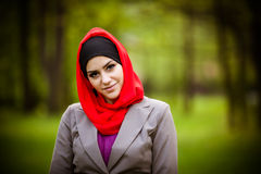 Beautiful muslim woman wearing hijab Stock Photography