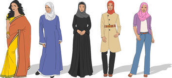 Beautiful Muslim women Stock Image