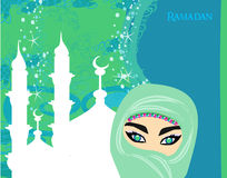 Beautiful muslim women Royalty Free Stock Image