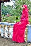 Beautiful muslimah lady wear blouse Stock Images