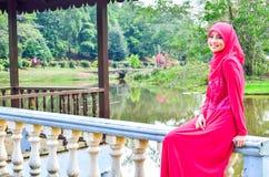 Beautiful muslimah lady wear blouse Stock Image