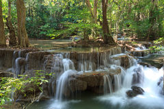 Beautiful Muti Layer Waterfall Deep Forest Royalty Free Stock Image