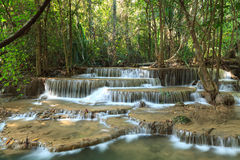 Beautiful Muti Layer Waterfall. Deep Forest in Thailand Stock Images
