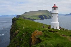 The beautiful Mykines island in The Faroe Islands royalty free stock photo