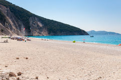 Beautiful Myrtos beach on Kefalonia Island Stock Photography