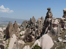 Beautiful and mysterious Cappadocia, Turkey. The land of Cappadocia offers strange looking rocks, shocking landscapes and fun. One of the most beautiful regions stock photography