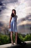 Beautiful Mysterious Girl Stock Photography
