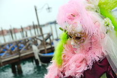 Beautiful mysterious pink mask Stock Images